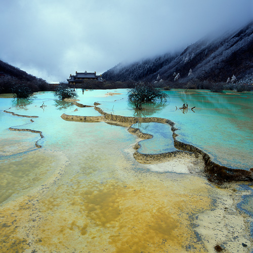 Huanglong Valley, Sichuan Province, China