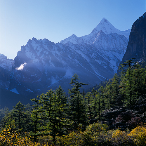 Image: Mount Chana Dorje and Cloud, Daocheng Yading