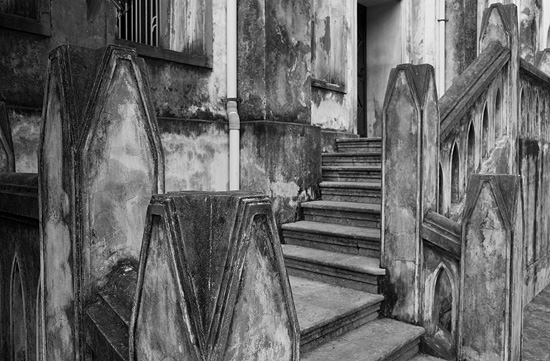 Old church staircase, Hanoi - image taken with the Ricoh GR camera