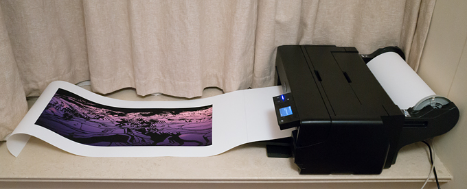 Epson SureColor P800 with roll paper holder